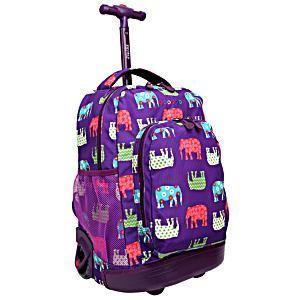 Школьный рюкзак на колесах JWORLD SUNNY Слоники