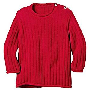 Одежда Disana свитер 100% шерсть цвет красный