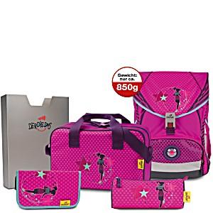 Школьный ранец DerDieDas ErgoFlex XL с наполнением Диско + нагрудный ремень
